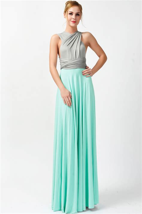 mint green infinity dress two colors convertible dress infinity dress gray and mint