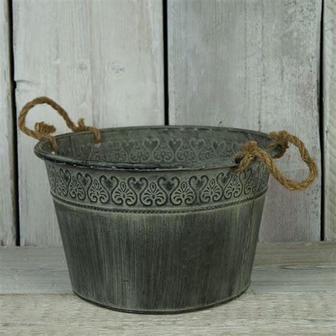 Planters Zinc by Zinc Bowl Planter Satchville Gift Co Garden Containers