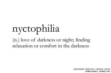 Words Night Dark N Darkness Definition English Comfort
