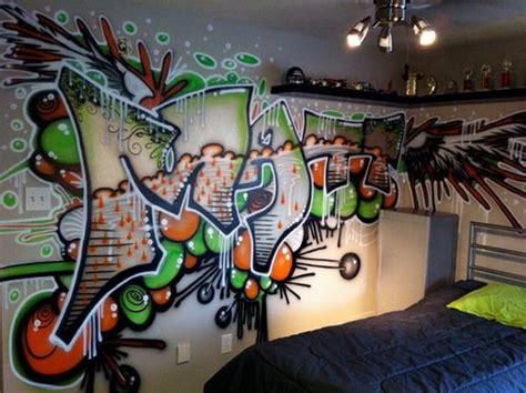 boys graffiti bedroom ideas hip hop brush graffiti bedroom murals kid s room pinterest