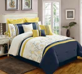yellow and navy blue bedding ease bedding with style