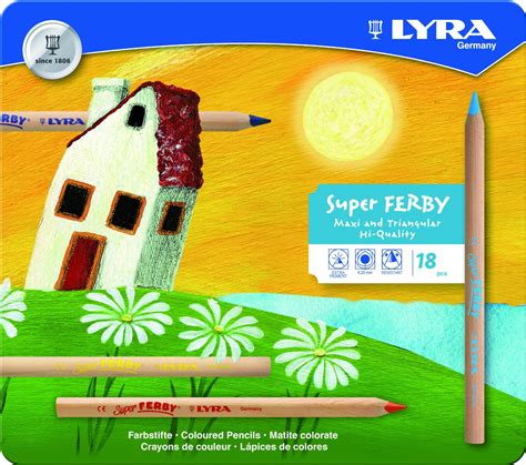 Lyra Ferby Lacquered Color Pencil 18 Colors 3721180 lyra ferby unlacquered triangular colored