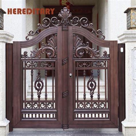china aluminum security gate aluminum double door gate