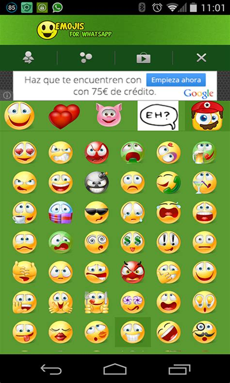 free emoji apps for android emoji emoticons for whatsapp free android app android freeware