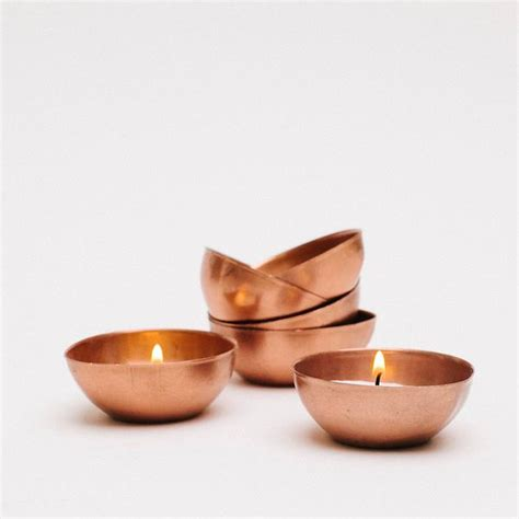 Copper Bowl Set Of 3 S M L tiny copper bowl set 6 pressed cotton
