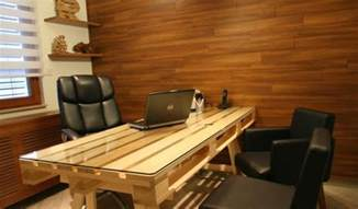 How To Make A Office Desk Diy Pallet Office Desk Goodiy