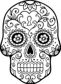 Skull 2 Colouring Pages