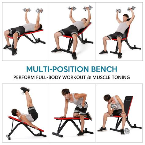 tomshoo adjustable workout weight bench home fitness exercise dumbel lifting 730060610474 ebay