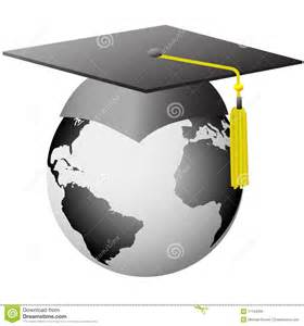 world graduation global graduate cap on earth royalty free