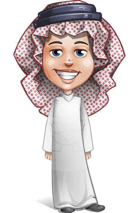 cute muslim kid cartoon vector character graphicmama
