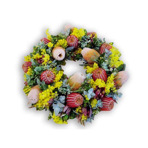 artificial australian native christmas wreath australian funeral wreath perth perth funeral wreath flowers