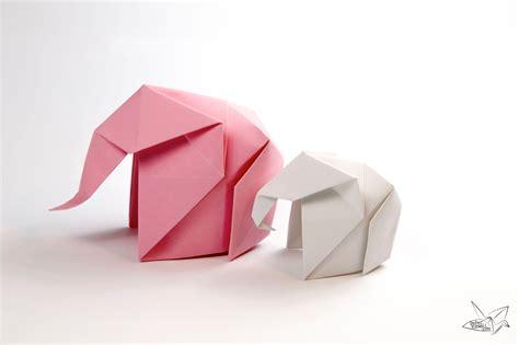 Origami Elefant - origami elephant tutorial paper kawaii
