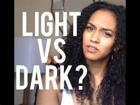 light skin vs skin