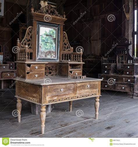 old fashioned desk l old dressing table stock photo image of wood house