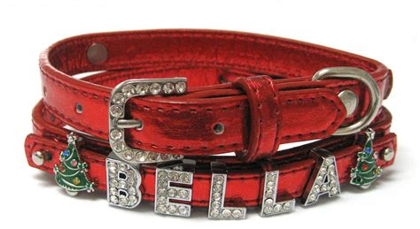 Doco Signature Buckle Collar Xs bling designer personalized leather collars