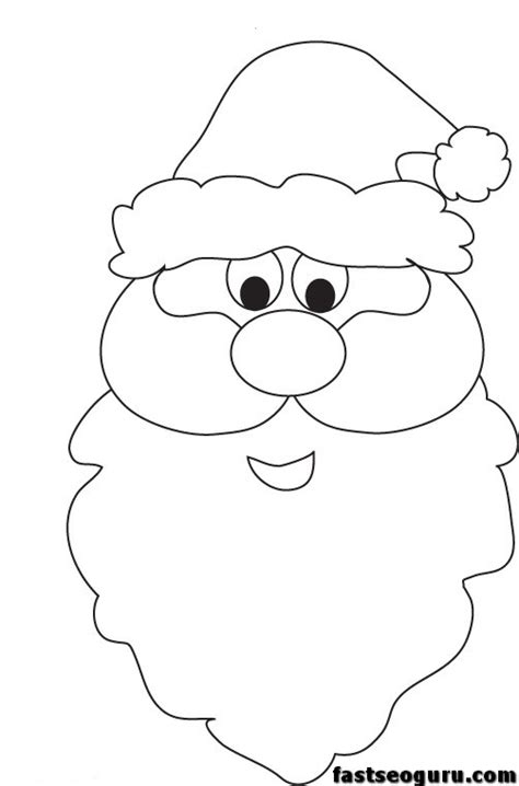 printable santa face template christmas santa face printable coloring pages printable