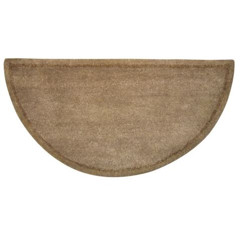 Wool Hearth Rugs by Woodfield Beige With Border Half Wool