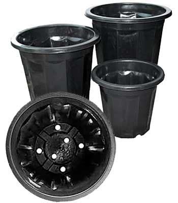 Black Garden Pots Sale Black Plastic Plant Pots 16 Qt 10 Pack Planet