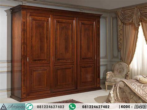 Lemari Sliding 3 Pintu Kayu Jati lemari sliding 3 pintu kayu jati ai 242 arts indo