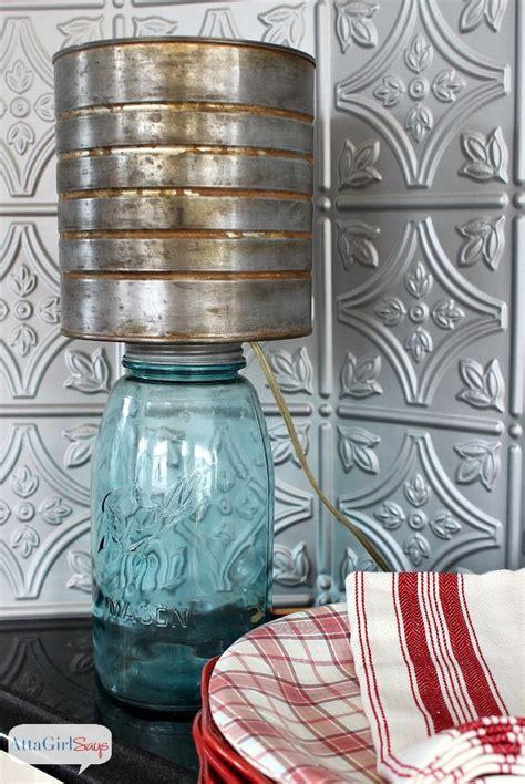 mason jar l shade mason jar l with faux zinc shade