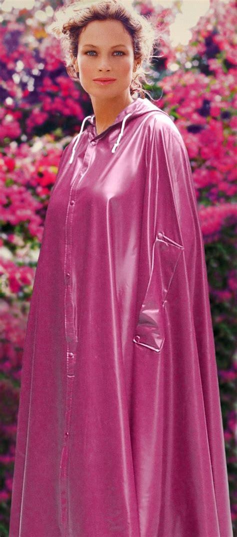 cape und inselküchen pink pvc cape raincape regenmantel pvc