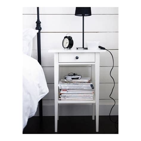 bedroom table ls canada hemnes bedside table white 46x35 cm ikea
