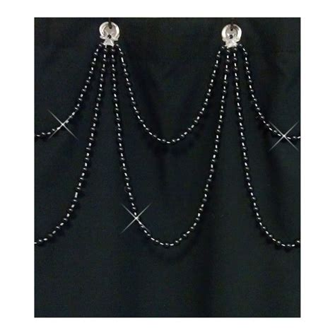 black double swag shower curtain 17 best images about shower curtain bling on pinterest