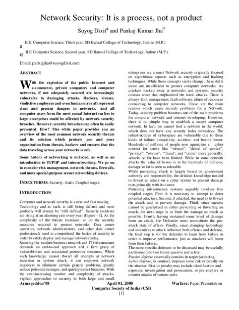computer research paper network security research paper