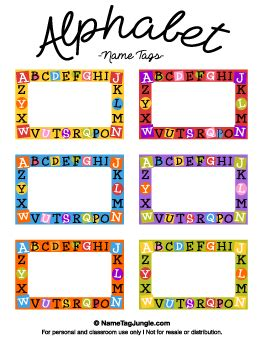 alphabet name tags school supplies pinterest teacher