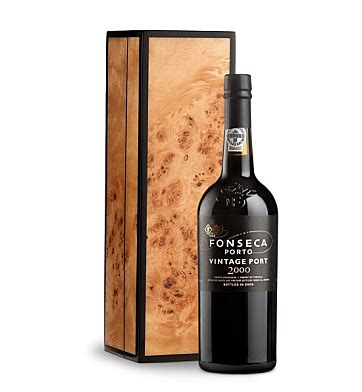 Vintages Handcrafted Wines - fonseca vintage port 2000 in handcrafted burlwood box wine