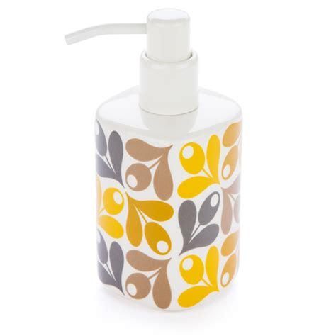 Orla Kiely Bathroom Accessories New Orla Kiely Acorn Cup Soap Dispenser Ebay