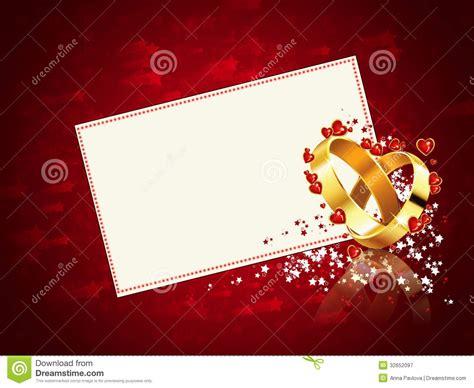Romantic wedding card stock illustration. Image of golden   32652097