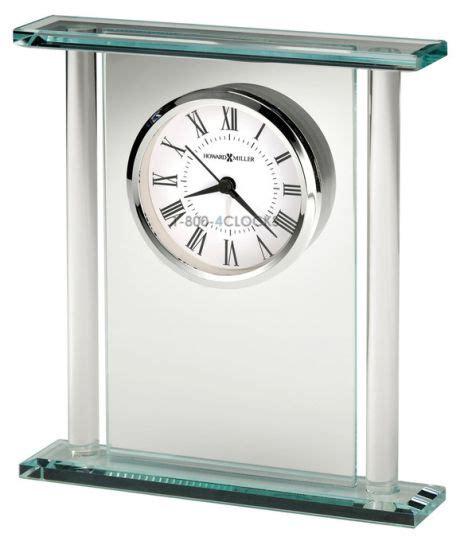 howard miller desk clock howard miller julian glass desk clock at 1 800 4clocks com