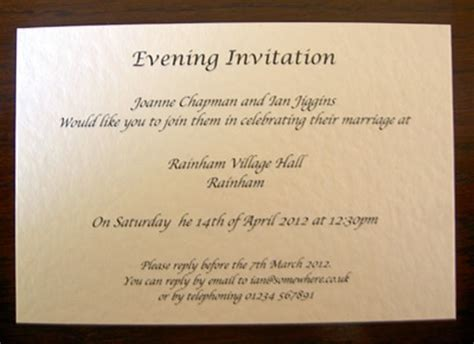 wedding invitations evening personalised wedding day evening reception invitations invites cards bells ebay