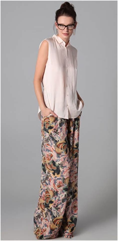 Yay Or Nay High Waist Wide Leg by Soft Wide Leg Printed Yay Or Nay Ylf