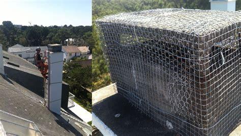 grille protection cheminee services voltige travaux acrobatiques en hauteur sur