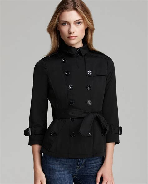 Cropped Trench Coats by Burberry Brit Shenstone Cropped Trench Coat With Belt In
