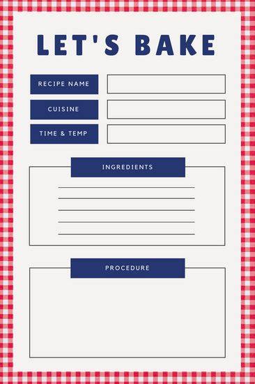 canva card recipe card templates canva