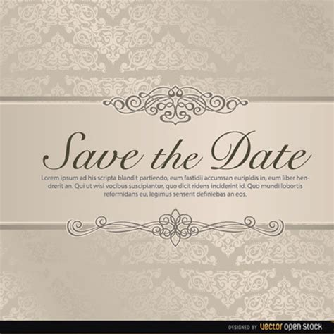 free wedding save the date templates wedding save the date vector freevectors net