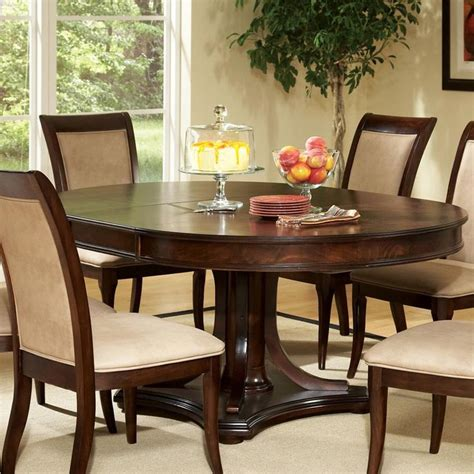 round dining room sets with leaf marseille round top pedestal base table with extension