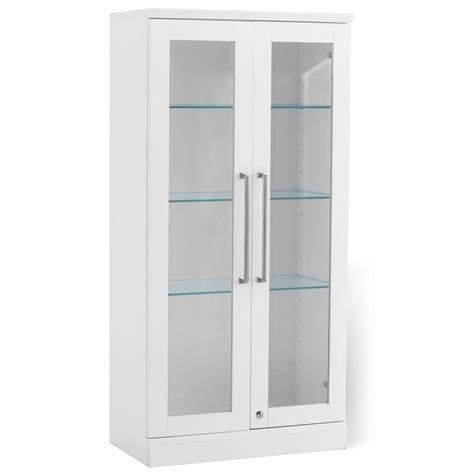 White Bar Cabinet Newage Products Home Bar White Wall Display Cabinet 60002 The Home Depot