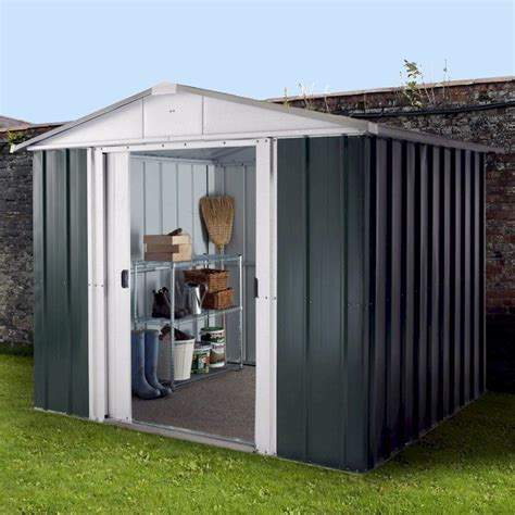 7 X 8 Shed by Yardmaster Emerald Deluxe 87geyz Metal Shed 7x8 One Garden