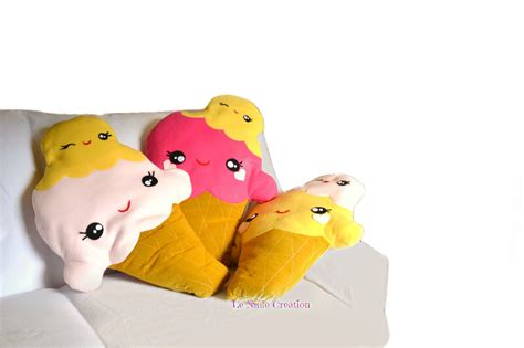 cuscino morbido cuscino in pile morbido a forma di maxi gelato cuscini