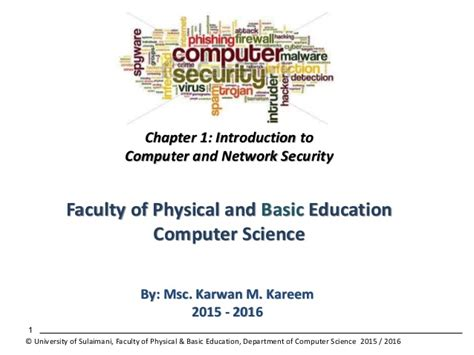 Mba In Computer Security by Introduction To Computer And Network Security