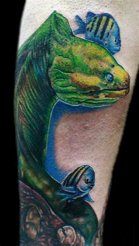 wyoming tattoos eel by justin mariani tattoos