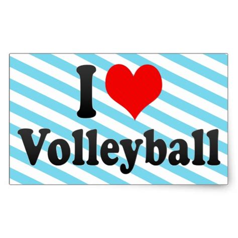 images of love volleyball i love volleyball rectangular stickers zazzle