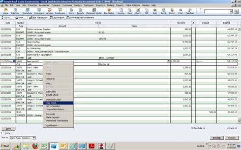 Void Check Report In Quickbooks by Using The Check Register In Books To Void Or Delete A Check