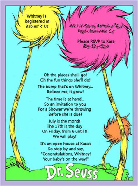Dr Seuss Baby Shower Poems kara s ideas dr seuss baby shower invitation kara