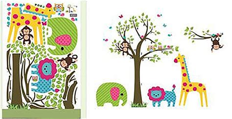 jungle animal monkey trees wall nursery sticker decal mural decor ebay