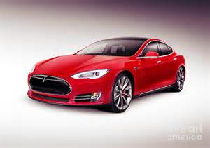 Electric Car Tesla Model S Tesla Model S 2014 Luxury Sedan Electric Car